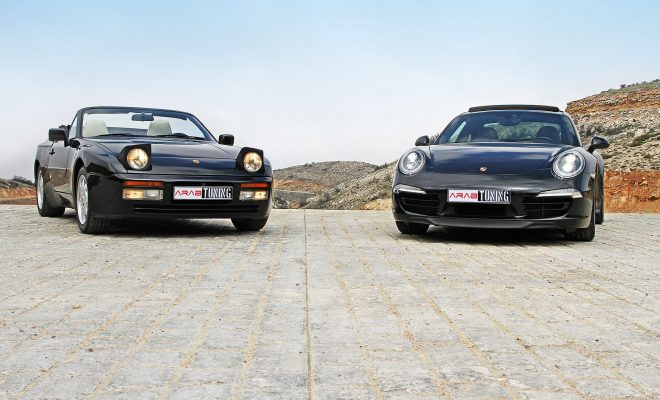 1990-Porsche-944-S2-2015-Porsche-911-Carrera-4S-Arab-Motor-World-00