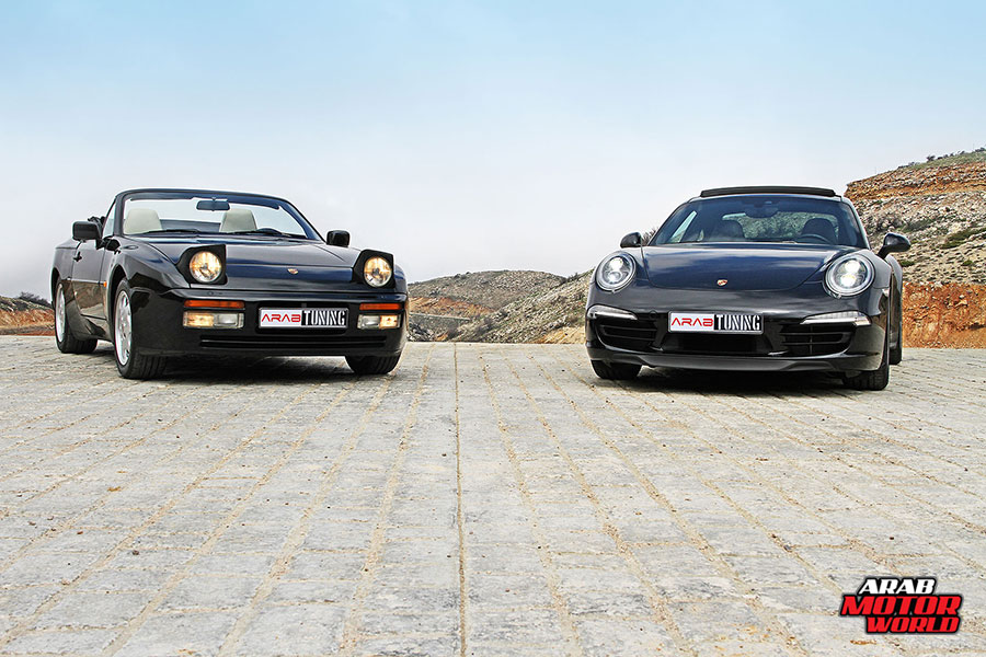 1990-Porsche-944-S2-2015-Porsche-911-Carrera-4S-Arab-Motor-World-01