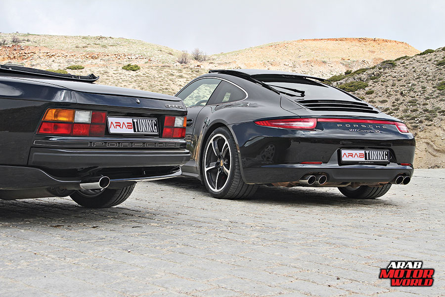 1990-Porsche-944-S2-2015-Porsche-911-Carrera-4S-Arab-Motor-World-04