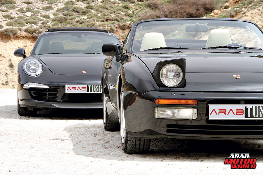 1990-Porsche-944-S2-2015-Porsche-911-Carrera-4S-Arab-Motor-World-06