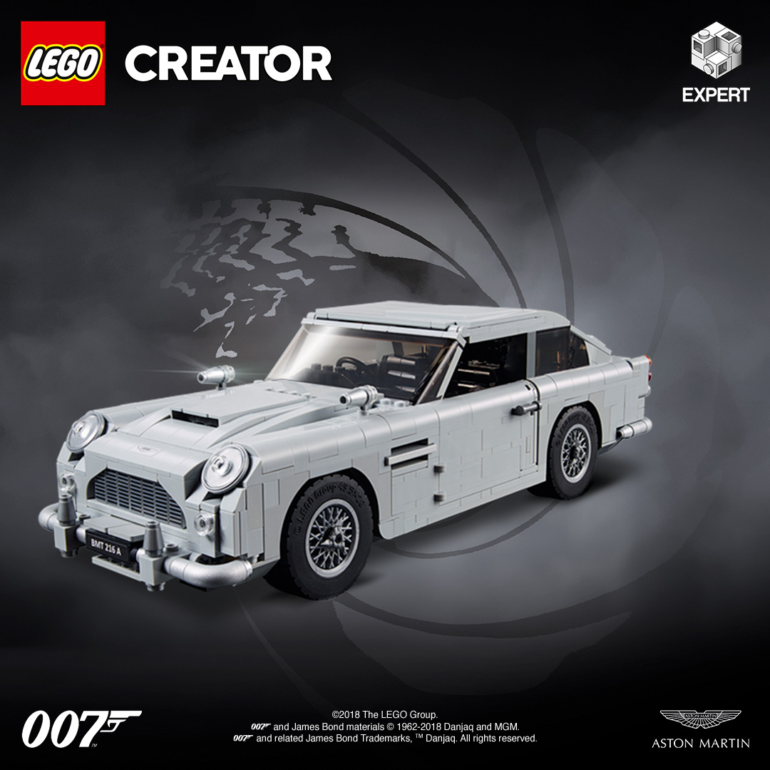 The Secrets Of 007's Aston Martin DB5 With LEGO