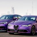 Purple Alfa Romeo Gargash Gumball 3000