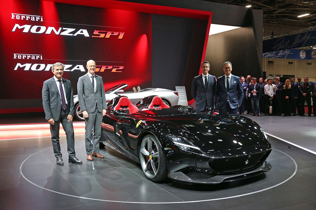 Ferrari Monza SP1 & SP2 at Paris Motor Show - Arab Motor World (1)