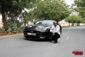 Arab Motor World Jaguar F-Type Test Drive 12