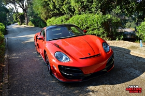 Red Cayman Porsche Anibal Bodykit Rush (1)