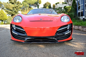 Red Cayman Porsche Anibal Bodykit Rush (12)