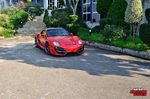 Red Cayman Porsche Anibal Bodykit Rush (17)
