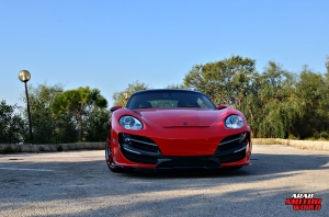 Red Cayman Porsche Anibal Bodykit Rush (20)