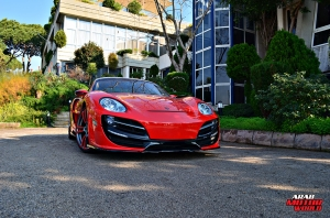 Red Cayman Porsche Anibal Bodykit Rush (3)