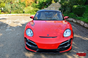 Red Cayman Porsche Anibal Bodykit Rush (6)