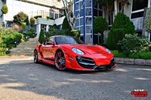 Red Cayman Porsche Anibal Bodykit Rush (9)